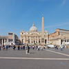 An ultra wide perspective on St Peter's Square.