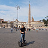 From the top of the Spanish steps, I walked accross and then back down to Piazza Del Popolo, where this Segway rider wondered into my attempt at an ultra wide shot.