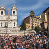 And of course a massive, massive tourist attraction.  At the top of the Spanish Steps is Trinità dei Monti.