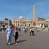 A local couple taking a stroll in St Peter's Square.