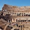 A shot accross the interior of the Colosseum, taking in the slave pits (bottom).