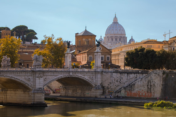 Classic View of the River Tiber and the Vatican