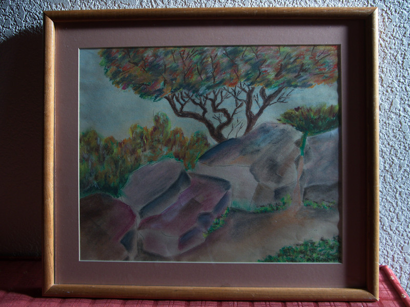 Al Ronning chalk drawings of Pipestone NM done in 1956