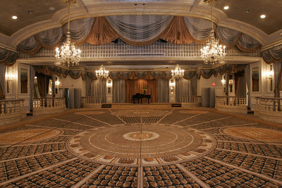 GRAND BALLROOM WITH PIANO ON STAGE