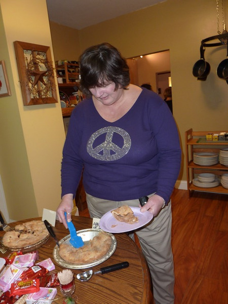 In the Gorski kitchen Jeanne goes for some Valentine's Day pie