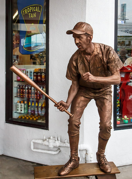 Street Performance Artist - The Coppertone Statue  <br /> Ocean Beach - San Diego, California<br /> <br /> He would stand as a statue, and for a donation, articulate to a new pose.