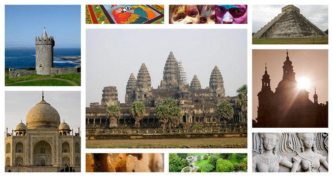 Temples, ruins, and festivals all over the world.