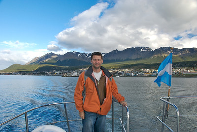 Hodson in Ushuaia, at the end of the world