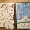 "Draw ""school"".  Rowan drew his teacher and himself and Elijah drew the structure."