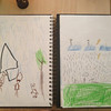 """Draw """"rain"""".  Notice the angels in the clouds in Elijah's pic."""