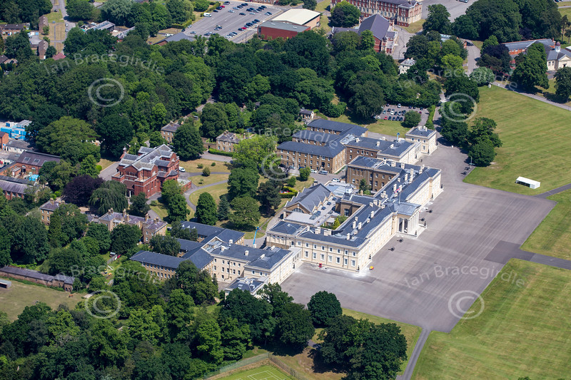 Aerial photo of The Royal Military Academy Sandhurst.