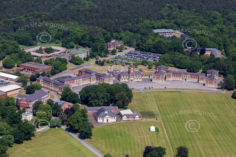 Aerial photo of The Royal Military Academy Sandhurst.
