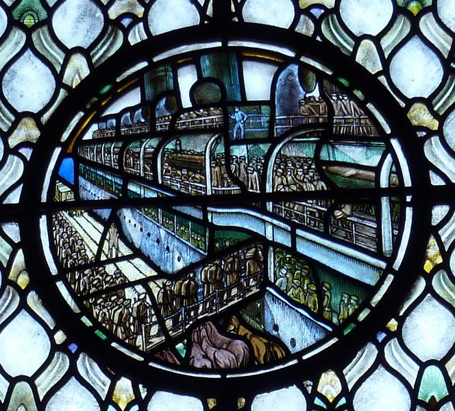 Stain Glass-Scottish War memorial- Edinburgh castle- the Evacuation