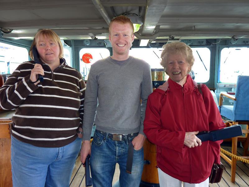 Anne Niall & Mary in Britannia Wheelhouse