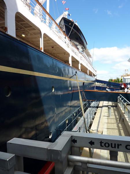 Britannia Aft from Quayside