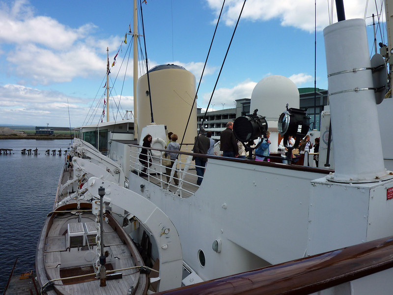 On the aft deck- Britannia
