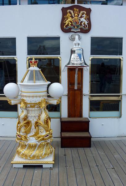 bell, Crest & Binnacle on Britannia