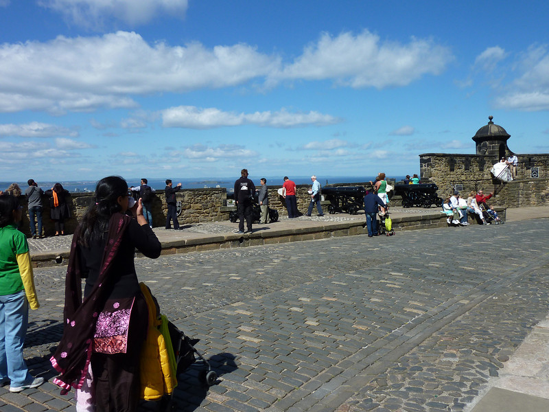 On top of the ramparts of Edinburgh castle