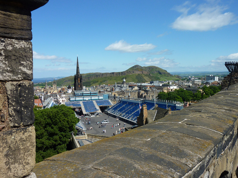 View of Arthur's Mountain, Edinburgh from castle