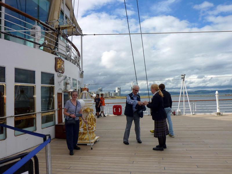 George & mavis getting their photograph taken-Royal Yacht