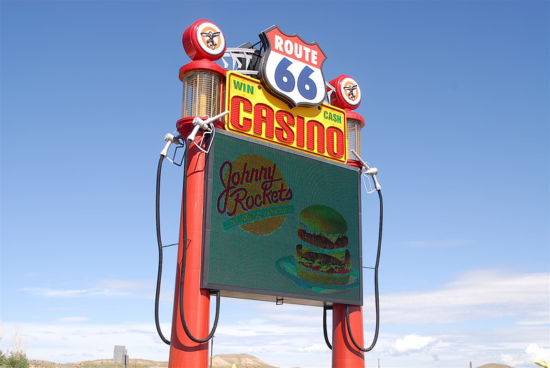 The Rt. 66 Casino sign