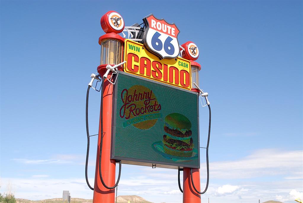 The Rt. 66 Casino sign