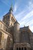 Het klooster van Mont Saint Michel. Daar een korte wandeling doorheen gemaakt in mentorgroepen met wat korte uitleg over hetgeen elke ruimte inhield.