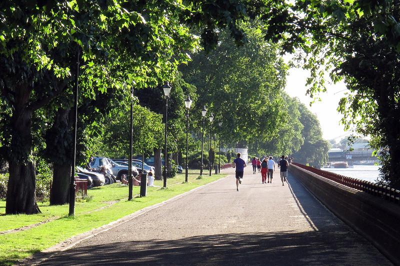 People keeping fit in Battersea Park