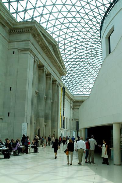 The atrium in the museum