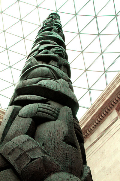 A Canadian totem pole