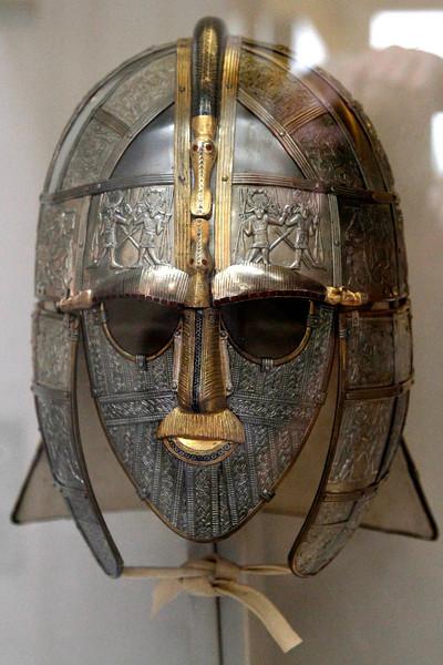 Part of the Sutton Hoo treasure - a warrior's ceremonial helmet