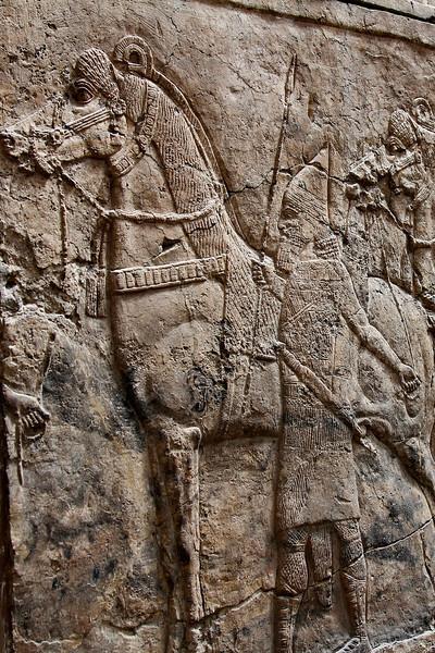 An Assyrian wall frieze