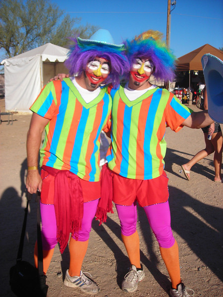 Who are those clowns with the wonderful color sense?