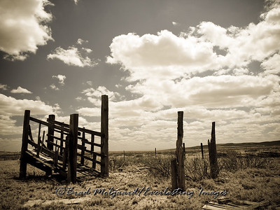 """The Loading Chute""-Carlsbad, Eddy County, New Mexico (aged photo tone)"