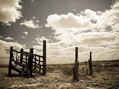 """""""The Loading Chute""""-Carlsbad, Eddy County, New Mexico (aged photo tone)"""