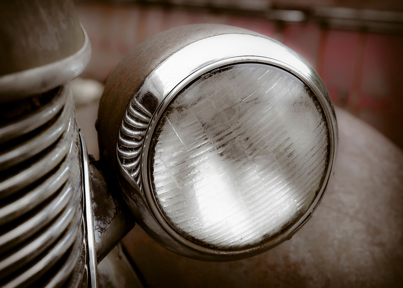 Old Headlight by Teresa Pigeon