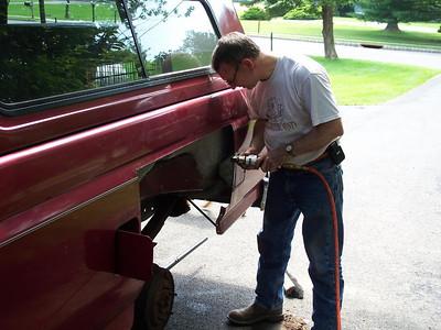 rust repair on truck
