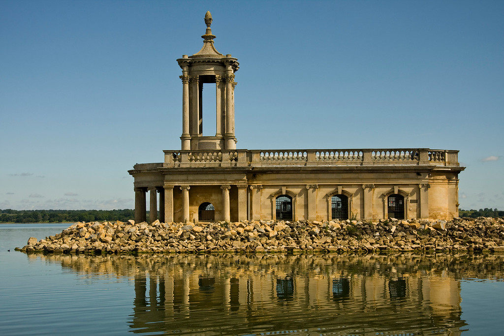 One of Rutland's most famous landmarks, Normanton Church was saved from the water and now houses an exhibition about the building of the reservoir, as well as fossils and an Anglo-Saxon skeleton.