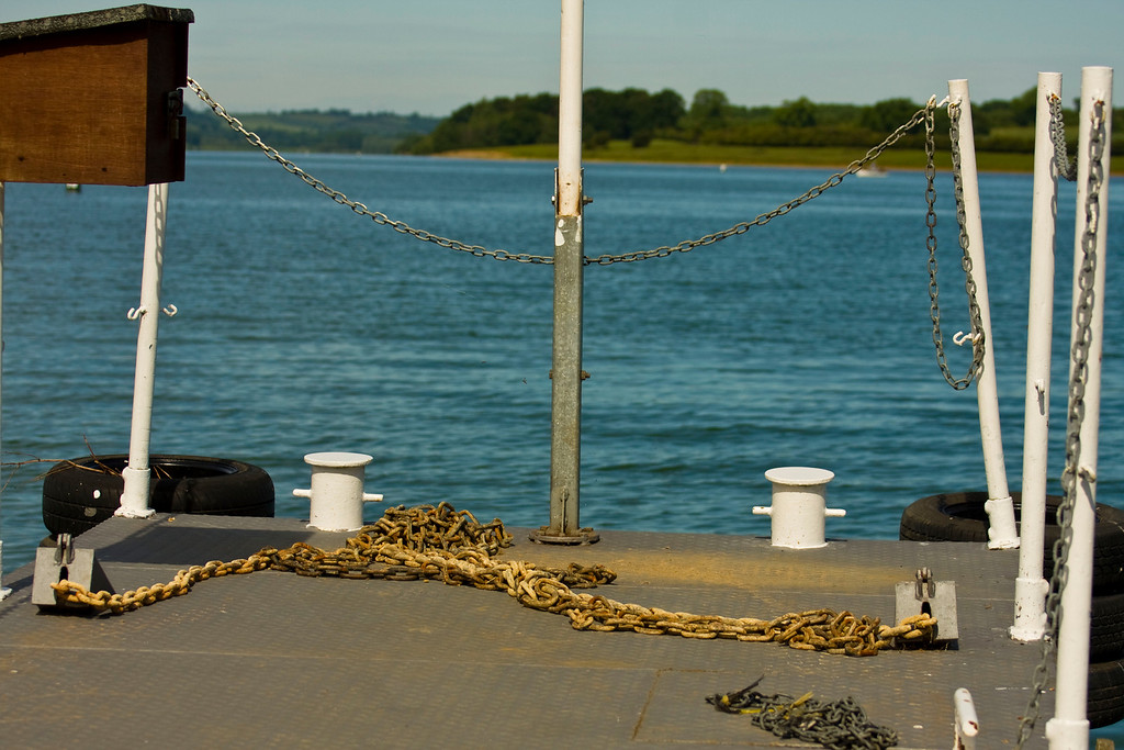 end of pontoon bridge