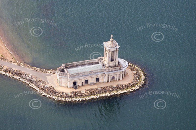 Normanton Chuch from the air.