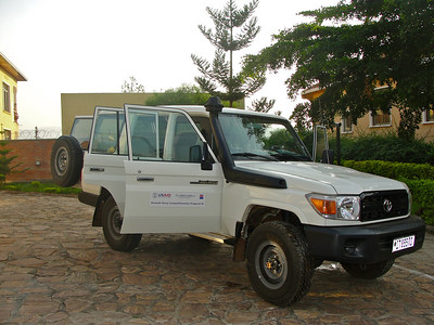 "The team travelled to both the Northern and Eastern regions of Rwanda in this car -- built to handle even the toughest of terrains in the ""Land of 1000 Hills."""