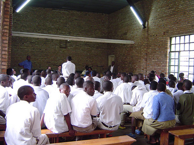 The youth of Saddleback discussing abstinence with the Rwandan youth.