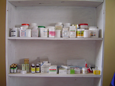This is the medicine cabinet that serves a township of thousands.
