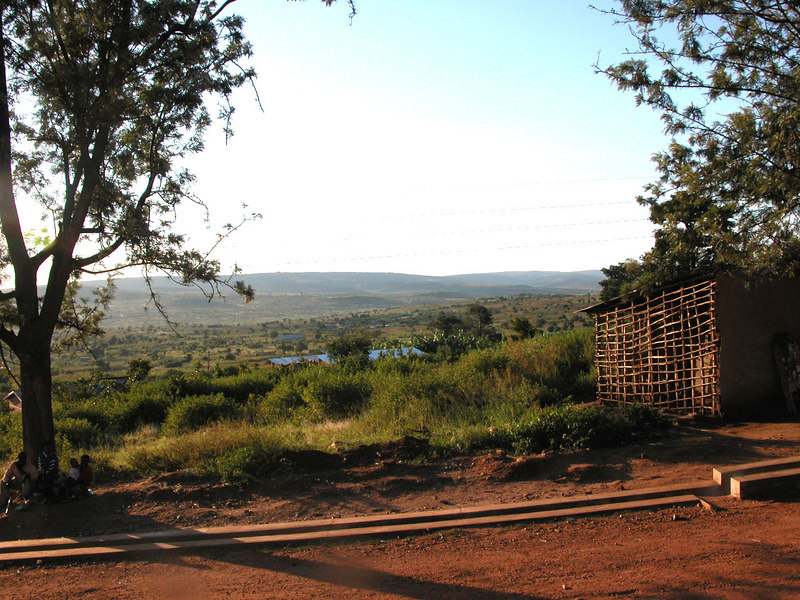 The view from Rwinkwavu into its catchment area.