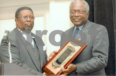 Congressman James E. Clyburn, of South Carolina and Samuel T. Rhoades, President of National Association of Title III Adminstrators, Inc. 2007