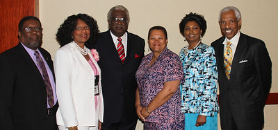 Samuel Rhoades,President Emeritus National HBCU Title III Association,Dr. Brenda Jackson,Southern University New Orleans, Dr. Haywood L. Strickland,President Wiley College, Dr. Cheryl Dozier,President Savannah State University, Mrs. Sylvia Thomas,President National HBCU Tilte III Association, and Dr. Leonard L. Haynes,III Senior Director of Instituional Service U.S. Department of Education