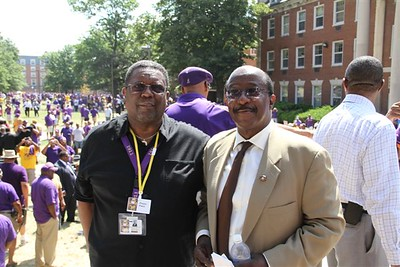 The Omega Psi Phi Fraternity, Inc. Grand Basileus, Brother Andrew A. Ray & Brother Samuel T. Rhoades