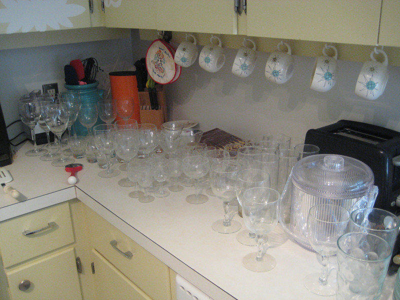 all the glassware.  we need to buy a bar now!