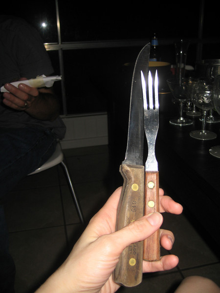 knife, fork