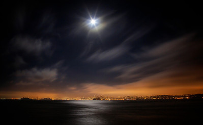 Moonburst Over the Bay